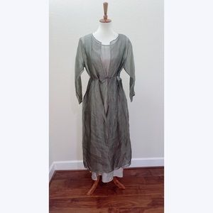 NWT Eileen Fisher Dress and Duster Set Size Medium